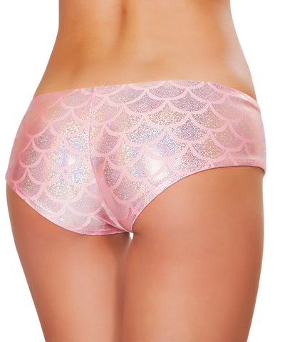 Pink Mermaid Scales Booty Shorts