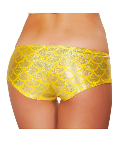Yellow Mermaid Scales Booty Shorts