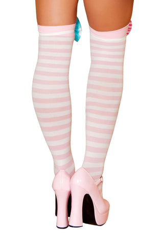 Pink Knee High Stockings