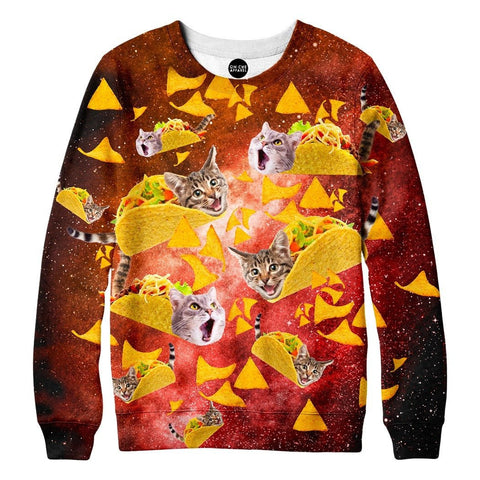 Tacos and Cats Red Sweatshirt