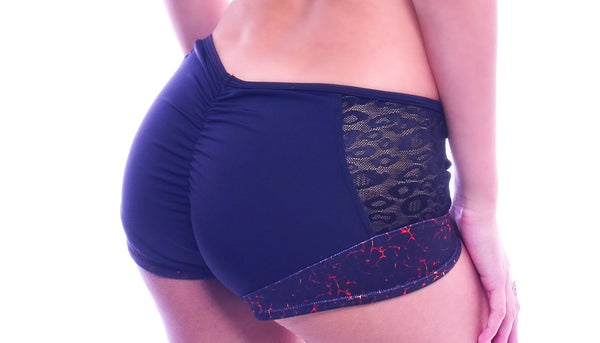 Red Phoenix Scrunch Back Shorts