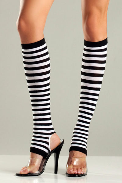 Black & White Stirrup Knee Highs