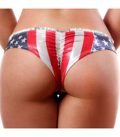 American Star Side Scrunch Back Shorts