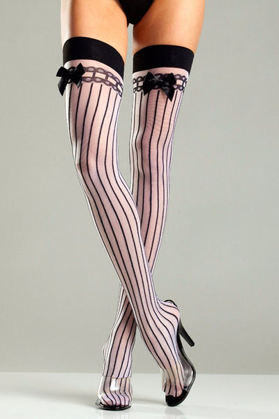 Mafia Pinstrip Thigh Highs