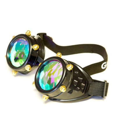 Black Bolt Kaleidoscope Goggles