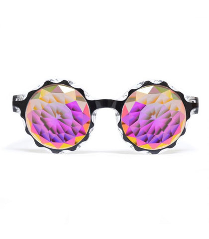 Black Crown Kaleidoscope Glasses