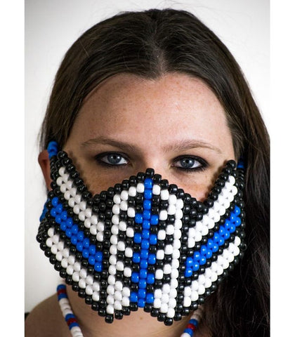 Blue Color Splash Reptile Mask