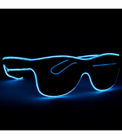 Blue Electro Light Up Glasses *Sound Activated*