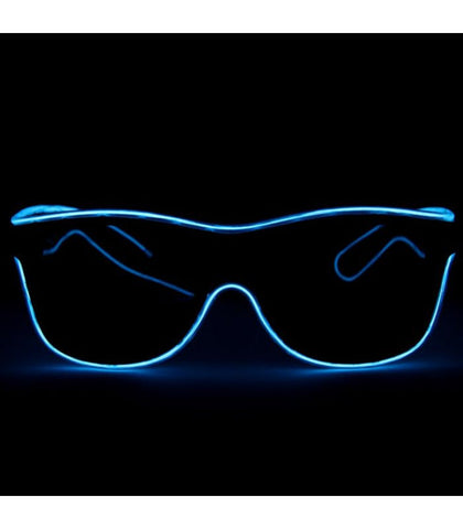 Blue Electro Light Up Glasses