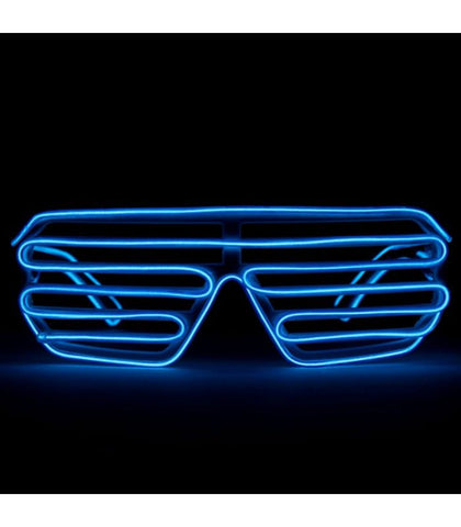Blue Light Up Shutter Shades *Sound Activated*