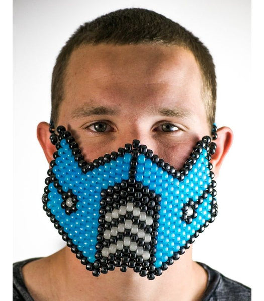 Blue Sub Zero Full Size Mask *Glow In The Dark*