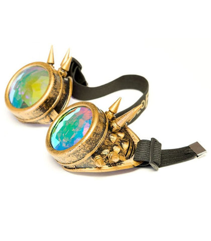 Brass Spiked Kaleidoscope Goggles