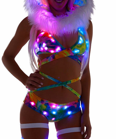 Tie-Dye Light-Up Wrap Halter