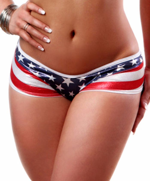 American Stripe Scrunch Back Shorts