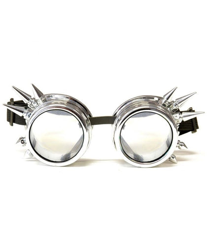 Chrome Spiked Diffraction Goggles