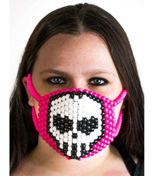 Cute Pink Skull Mask
