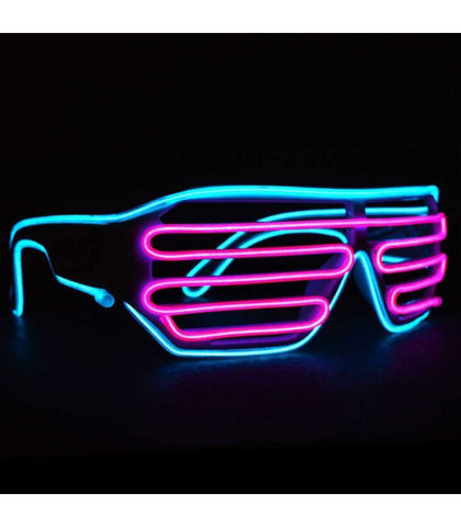 Cyan & Pink Light Up Shutter Shades *Sound Activated*