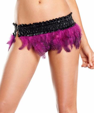 Hot Pink Spotted Feather Mini Skirt