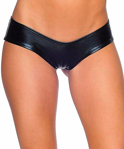 Metallic Scrunch Back Super Micro Shorts