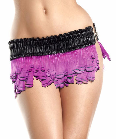 Hot Pink Paradise Feather Mini Skirt