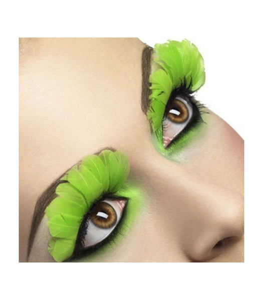 Feather Eyelashes - Neon Green