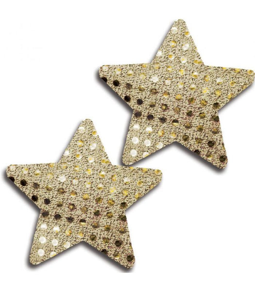 Gold Shiny Dot Star Pasties