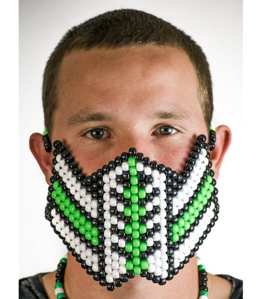 Green Color Splash Reptile Mask