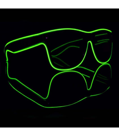 Green Electro Light Up Glasses *Sound Activated*