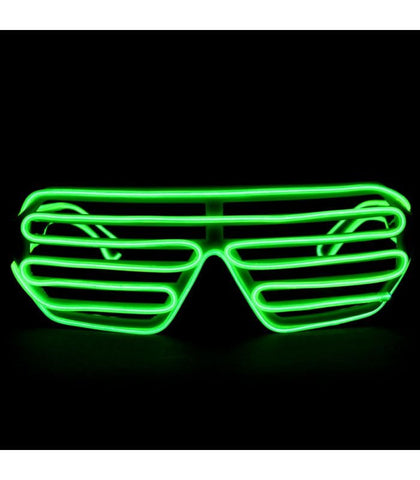 Green Light Up Shutter Shades *Sound Activated*