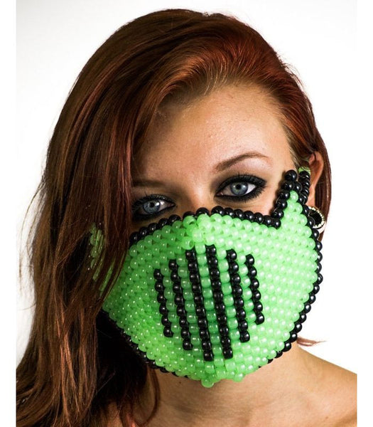 Green Vented Full Size Mask *Glow In The Dark*