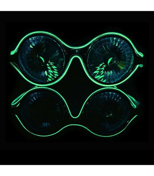 Kaleidoscope Luminescence Diffraction Glasses