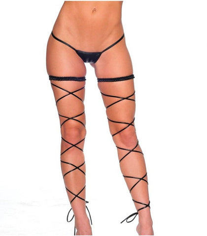 Metallic Garter Set w/ Leg Wraps *3 Colors*
