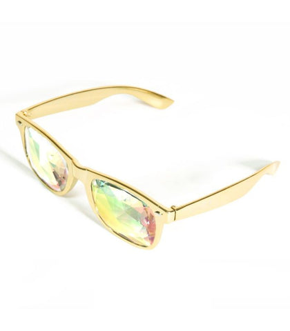 Metallic Gold Ultimate Kaleidoscope Glasses *Limited Edition*