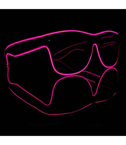 Pink Electro Light Up Glasses *Sound Activated*