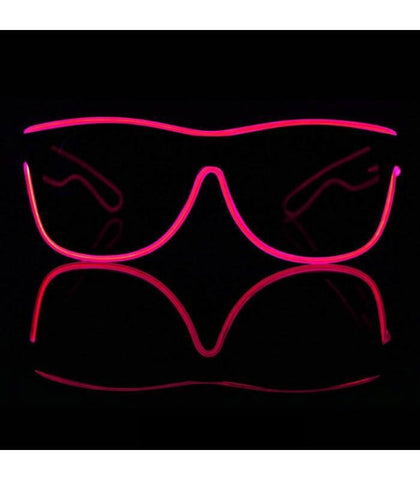 Pink Electro Light Up Glasses