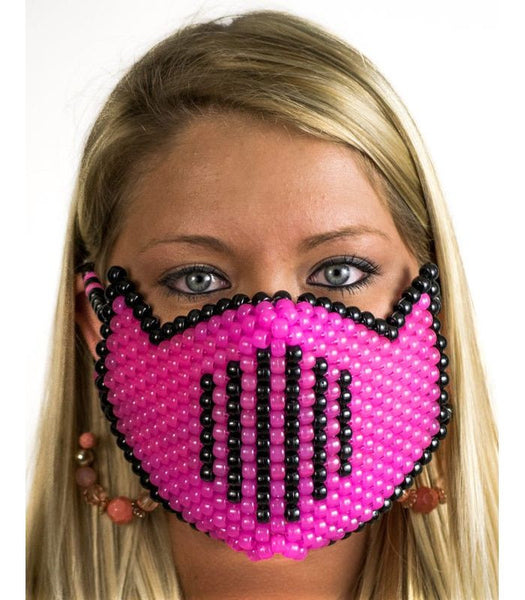 Pink Vented Full Size Mask *Glow In The Dark*