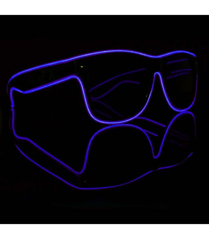 Purple Electro Light Up Glasses *Sound Activated*
