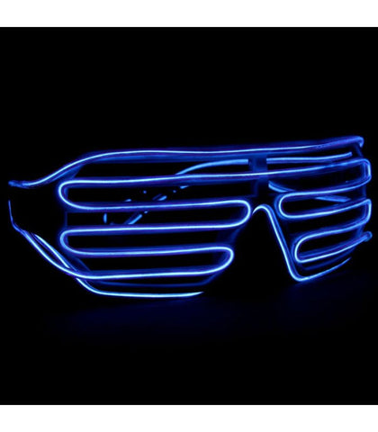 Purple Light Up Shutter Shades *Sound Activated*