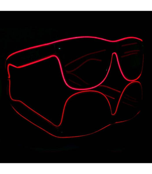 Red Electro Light Up Glasses *Sound Activated*