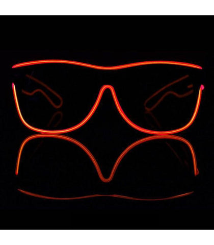 Red Electro Light Up Glasses