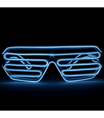 White Light Up Shutter Shades *Sound Activated*