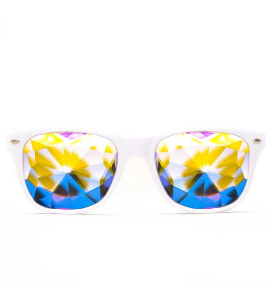 White Ultimate Kaleidoscope Glasses