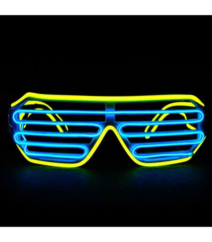 Yellow & Blue Light Up Shutter Shades *Sound Activated*