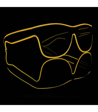Yellow Electro Light Up Glasses *Sound Activated*