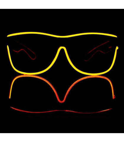 Yellow Electro Light Up Glasses