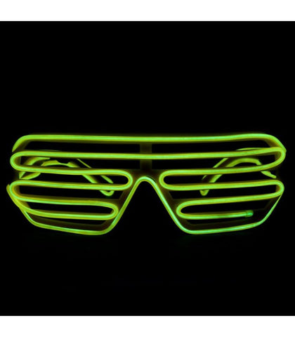 Yellow Light Up Shutter Shades *Sound Activated*