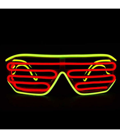 Yellow & Red Light Up Shutter Shades *Sound Activated*