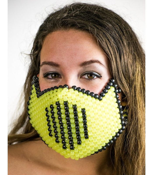 Yellow Vented Full Size Mask *Glow In The Dark*