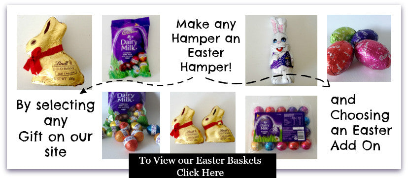 Add easter items to any basket gift baskets galore perth wa easter baskets hampers perth 2017 negle Choice Image
