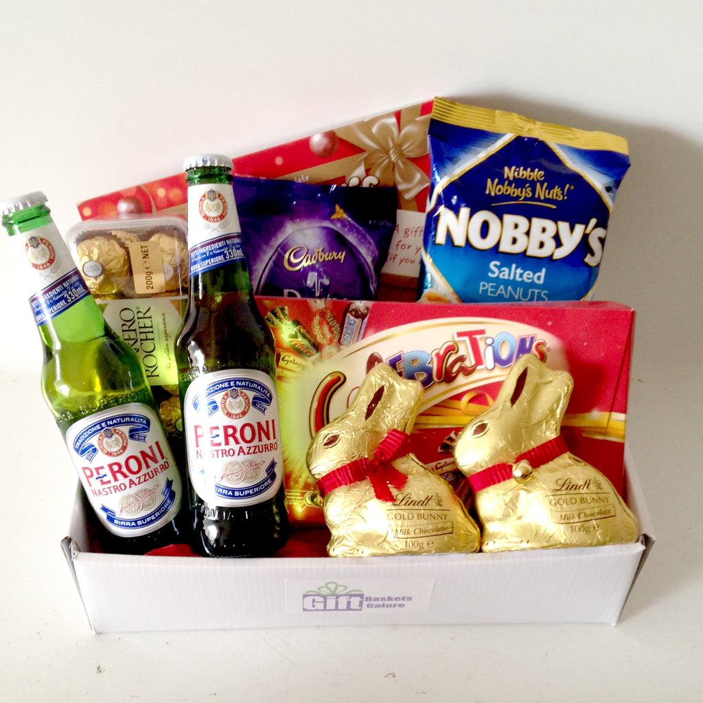 All products easter baskets perth gift baskets galore perth wa beer lindt bunny easter negle Choice Image